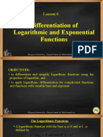 Lesson 06-Differentiation of Logarithmic and Exponential Functions Functions.pptx