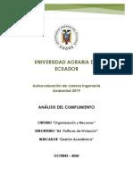 Informe del Análisis de cumplimiento B4