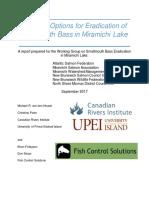 CRI and Fish Control Solutions Smallmouth Bass in Eradication in Miramichi Lake Final Nov 7