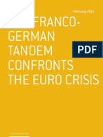 The franco-german tandem confronts the Euro crisis