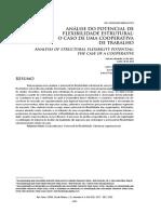 Análise do potencial de flexibilidade estrutural o caso de uma cooperativa de trabalho