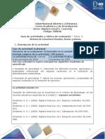 Guia de actividades y rubrica de evaluación -Tarea 4 - Espacios Vectoriales