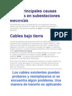 Las 7 principales causas de fallas en subestaciones eléctricas