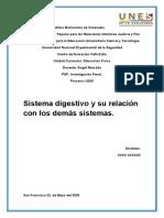 Sistema digestivo y su relacion con los demas sistemas
