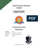 LABORATORIO presion hidrostatica
