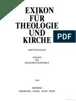 Lexicon für Theologie und Kirche 3 [Dämon bis Fragmentenstreit]