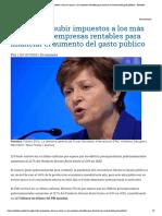 El FMI pide subir impuestos a los más ricos y a las empresas rentables para financiar el aumento del gasto público – Rebelion