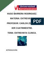 HUGO BARRERA ENTREVISTA CLINICA
