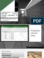 Programación de obra Microsoft Proyect vivienda unifamiliar de