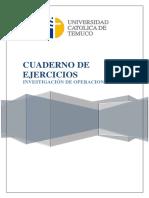 Cuaderno de Ejercicios Optimización