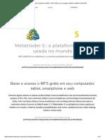 Metatrader 5 grátis em DMA4 - MT5 Grátis com Corretagem Grátis em DMA4 na RLP B3