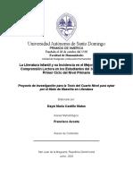 Mestría literatura SJM 2020.  Daysi Maria Castillo Mateo