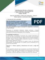 Guia de actividades y Rúbrica de evaluación - Unidad 2 - Tarea 3 - Enlace químico y estructura molecular