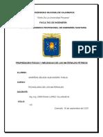 INFORME PROPIEDADES FÍSICAS Y MECÁNICAS DE LOS MATERIALES PÉTREOS.docx