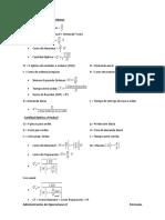 Fórmulas de Administración de Operaciones II.docx