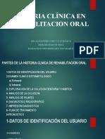 HISTORIA CLÍNICA DE REHABILITACIÓN ORAL