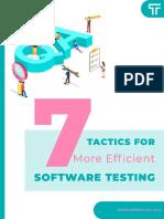 Ebook - 7 Tactics for more efficient software testing