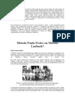 Paulo Freire ou Método Laubach