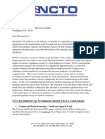 National Council of Textile Organizations Letter to Chairman Issa - January 20 2011