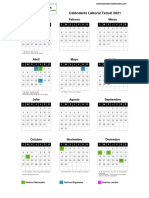 calendario laboral Teruel 2021