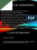 CLASES DE SERMONES