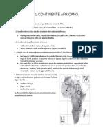 ACTIVIDAD EL CONTINENTE AFRICANO