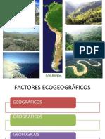 factores ecogeograficos y corriente de humboll