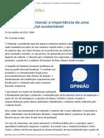 ConJur - Luciana Lanna_ O Pantanal e a economia florestal sustentável