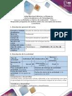 Guía de actividades y rúbrica de evaluación - Tarea 1 - Responder preguntas de análisis sobre los conceptos de lectura y escritura (.pdf