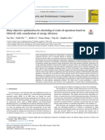 Many-objective optimization for scheduling of crude oil operations based on