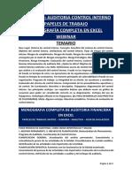 PUBLICIDAD AUDITORIA CONTROL INTERNO PT EXCEL