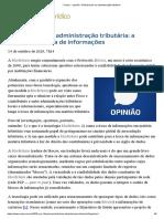 ConJur - Opinião_ A Blockchain na administração tributária
