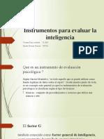 Instrumentos para evaluar la inteligencia