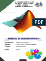 laboratorio Analisi numerico