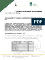 CP DECRETO 277 NUEVAS DISPOSICIONES INGRESO DE PLAYAS EN PUERTO COLOMBIA.pdf