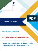 UCT - Educación Comparada - Foro y Debate 1.pdf