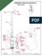 Fender American Elite Dimension Bass V HH 019300XXXX Service Manual REV A 1-19-16