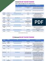 Useful websites for online lessons