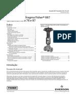 Atuador de diafragma Fisher 667 tamanhos 30 a 76 e 87