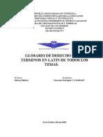 Glosario sobre Terminos en Latin Derecho Civil Fernando Rodriguez 2do Año Sección 1 28.482.407