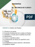 Semana 2-Unidad II-Mecánica de Fluidos I-Lidio Ovelar