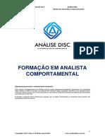 Apostila 1 - Formação em Analista Comportamental - 2.0