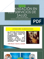 HUMANIZACIÓN EN LOS SERVICIOS DE SALUD
