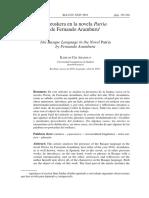 El euskera en la novela Patria de Fernando Aramburu