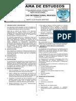 Derecho Internacional Privado - PROGRAMA DE ESTUDIOS - 2S 2020