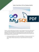 Mengkoneksikan Visual Basic 2010 ke Database MySQL