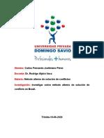 metodos alternos de solucion de conflictos en Brasil