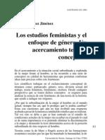 Iliana Benítez- Los estudios feministas y el enfoque de Género. Un acercamiento teórico conceptual