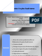 Elaboration Du Plan Audit