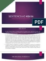 SENTENCIA C-026- TALLER CONSTITUCIONAL